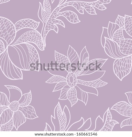 seamless lacy pattern - stock vector