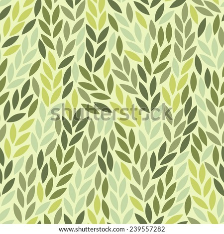 Seamless leaf pattern - stock vector