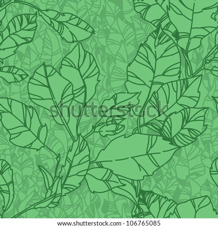 seamless leaf pattern. background of leaves
