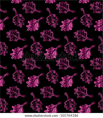 Seamless leaf pattern. Vector illustration. - stock vector