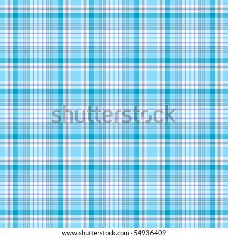 Seamless light blue-white checkered pattern (vector EPS 10) - stock vector