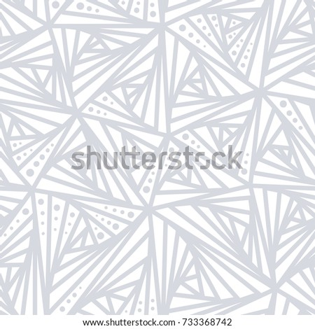 Seamless Light Geometric Pattern Grey And White Lines Dot Background Simple Design Decoration