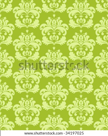 Seamless lime green background - stock vector