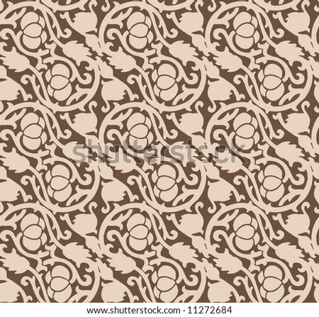 Seamless luxurious chocolate pattern