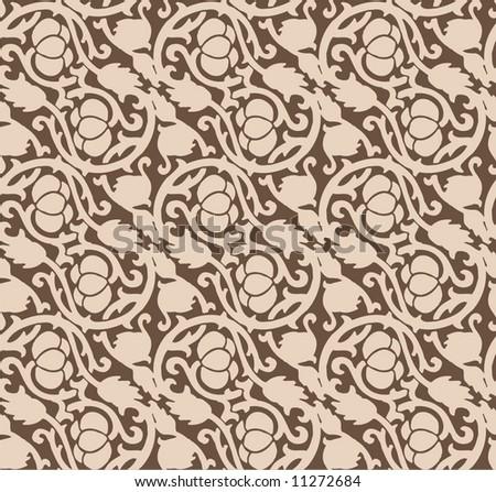 Seamless luxurious chocolate pattern - stock vector