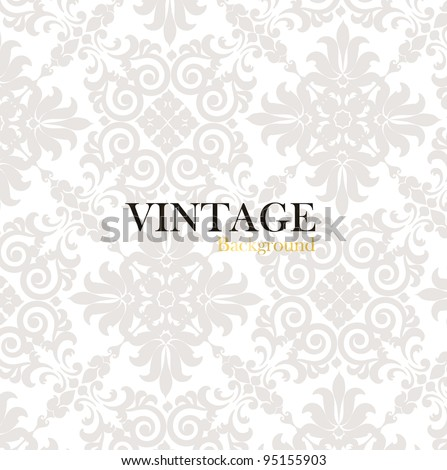 Seamless luxury pattern background. Vector illustration. - stock vector