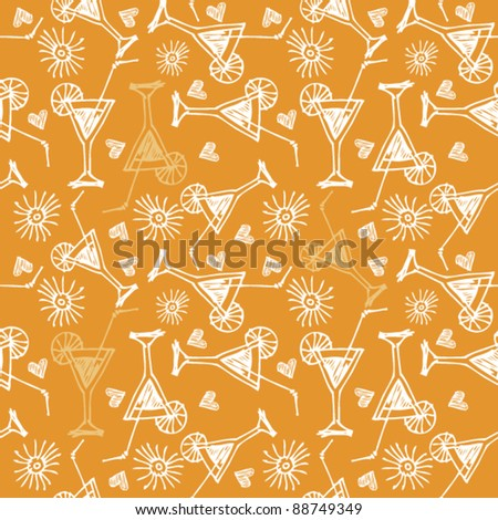 seamless martini pattern