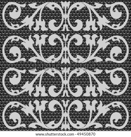 seamless metal doted ornate pattern