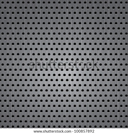 Seamless metal texture background. Vector