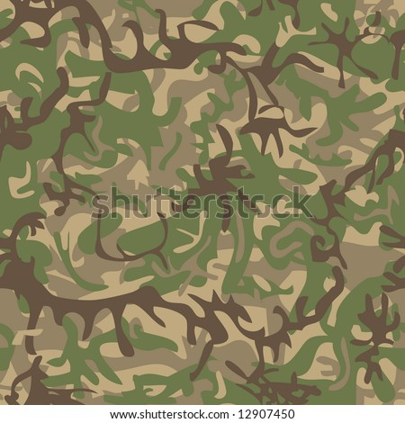Seamless military pattern for textile industry - stock vector