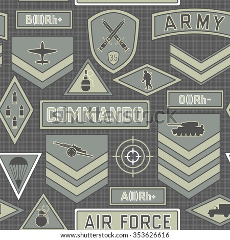 Seamless military pattern number ten can be used for graphic design, textile design or web design. - stock vector