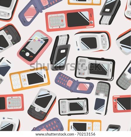 seamless Mobile phone icon - stock vector