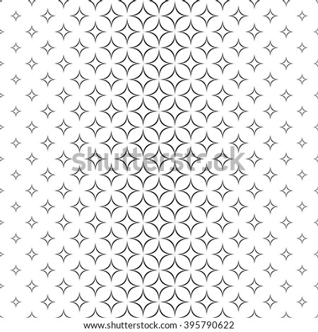 Seamless monochrome abstract star pattern design background