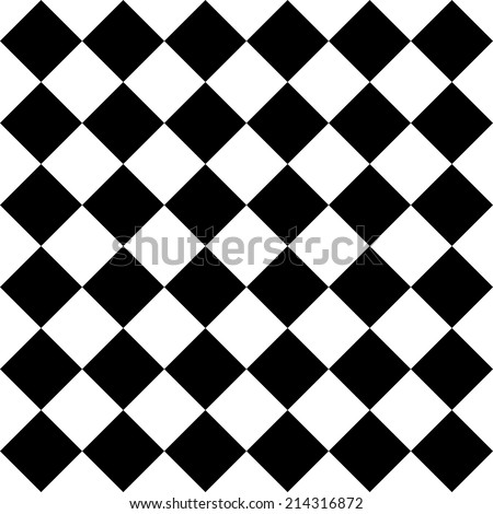 Seamless Monochrome Checkered Pattern - stock vector