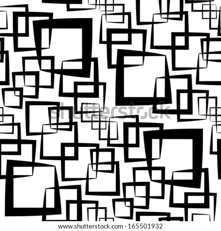 Seamless Monochrome Pattern - stock vector