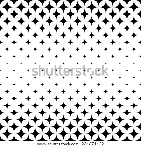 Seamless monochrome star pattern - stock vector