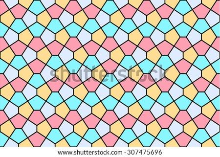Seamless mosaic pattern - stock vector