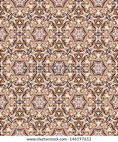 Seamless mosaic pattern in skin tones - stock vector