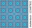 Seamless mosaic patterns - stock vector