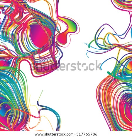 seamless moving colorful lines of abstract background - stock vector