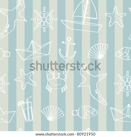 Seamless nautical background