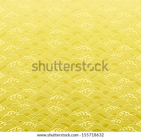 seamless ocean wave pattern - stock vector