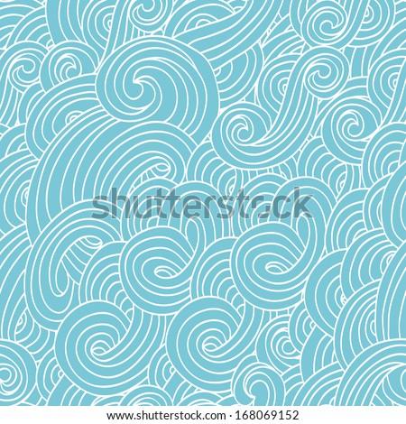 seamless ocean wave pattern - stock vector