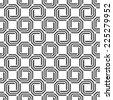 Seamless octagonal swirl pattern vector - stock vector