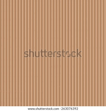 Seamless of corrugated cardboard - stock vector
