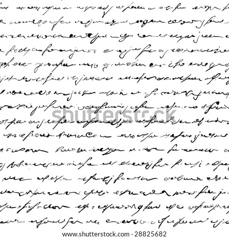 Seamless of handwritten text - stock vector