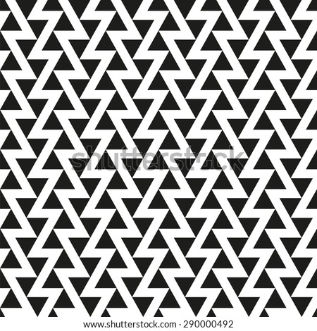 Seamless Offset Triangle Pattern - stock vector