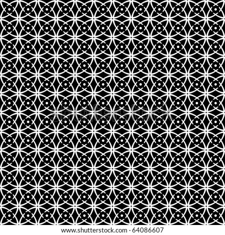 Seamless op art pattern. Black-and-white abstract texture. Vector art. - stock vector