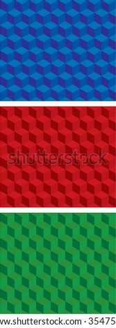 seamless optical illusion cubes - stock vector