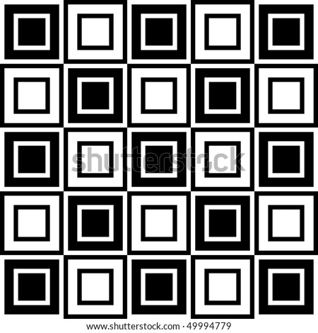 Seamless Optical Illusion Vector Pattern - stock vector