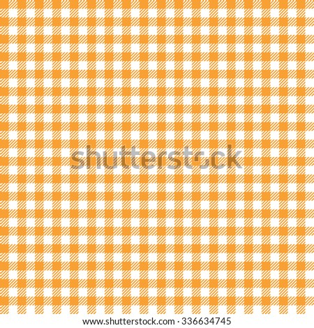 Seamless Orange Colored Checkered Table Cloth Background