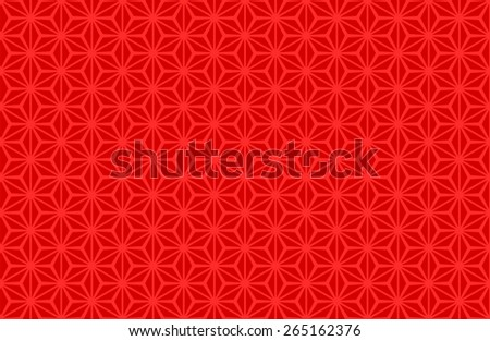 Seamless Oriental Pattern of Red Color, Usually Used to Decorate Old Chinese Artifacts. It is also used on Old Wooden Chinese Windows.  - stock vector