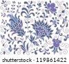 seamless original floral pattern - stock vector