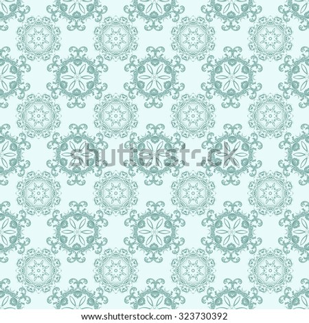Seamless ornament on background. Wallpaper pattern - stock vector