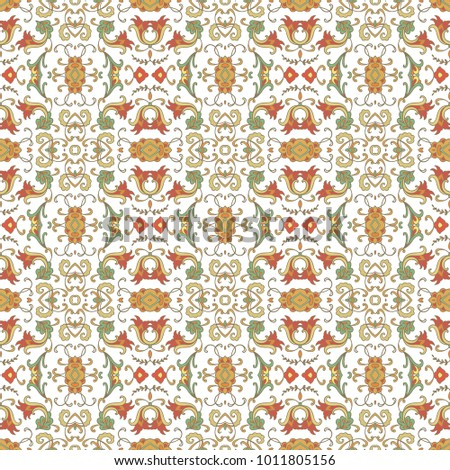 Seamless ornamental vector pattern