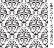 Seamless ornamental wallpaper, floral pattern, illustration - stock vector