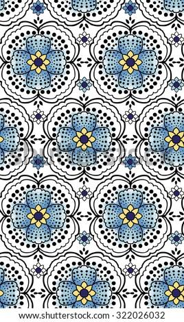 Seamless Paisley background. Elegant Hand Drawn vector pattern. - stock vector