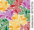 seamless paisley pattern - stock photo