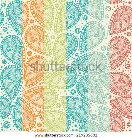 seamless paisley pattern - stock vector
