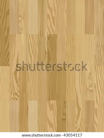 Seamless parquet texture - stock vector