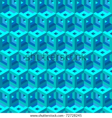 seamless patern of red and blue blocks - stock vector