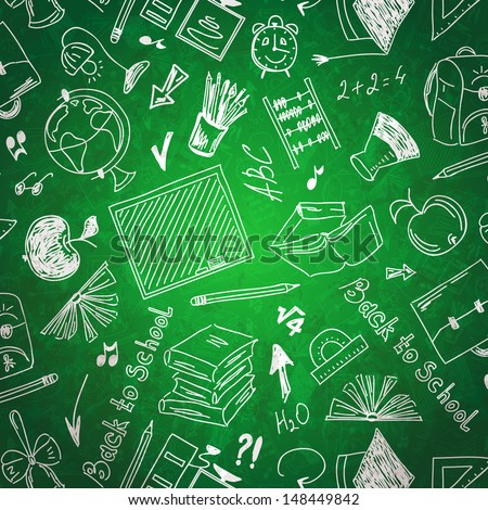 Seamless pattern abstract background School - stock vector