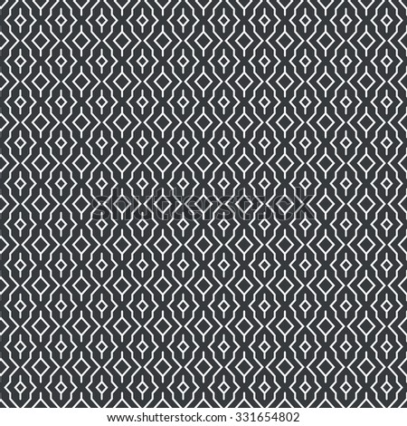 Seamless pattern. Abstract geometrical background. Modern stylish texture.  Regularly repeating rhombuses and polygons. Vector element of graphical design