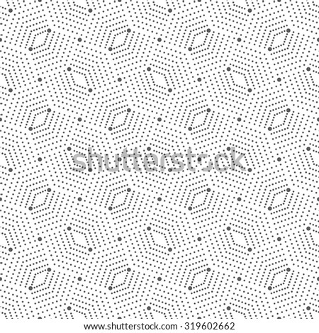 Seamless pattern. Abstract geometrical background. Modern stylish texture with small dots. Repeating ornament with a grid of dots and rhombuses. Vector element of graphical design - stock vector