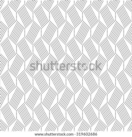 Seamless pattern. Abstract geometrical background. Modern stylish texture with small dots. Regularly repeating dotted hexagons and lines. Vector element of graphical design - stock vector
