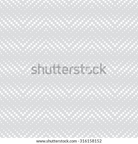 Seamless pattern. Abstract halftone textured background. Modern stylish texture. Regularly repeating geometrical shapes, dotted zigzags. Vector element of graphical design - stock vector
